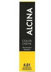 Alcina Color Creme Haarfarbe 4.81 Mittelbraun-graphit 60 ml