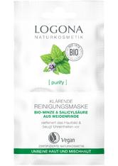 Logona Purify Klärende Reinigungsmaske Bio-Minze & Salicylsäure aus der Weidenrinde Maske 15.0 ml
