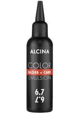Alcina Color Gloss+Care Emulsion Haarfarbe 6.7 Dunkelblond-Braun Haarfarbe 100 ml