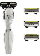 Shave Lab Herrenrasierer Seis Starter Set White Edition P.6 Griff + 4 Klingen 1 Stk.