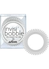 Invisibobble - Haargummi - 3 Stk. - Slim - The Elegant Hair Ring - Crystal Clear