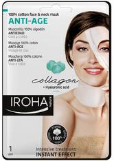Iroha Gesichts-Vliesmasken Anti-Age 100% Cotton Face  Neck Mask (1Anwendungen)