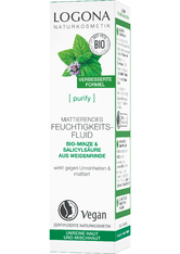 LOGOCOS - Logona Purify Logona Purify Mattierendes Feuchtigkeitsfluid Bio-Minze & Salicylsäure aus der Weidenrinde Gesichtsfluid 30.0 ml - Serum