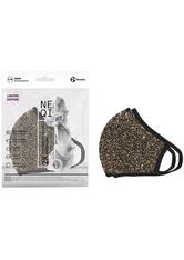 NEQI Mund-Nasen-Masken »Bronze Glitzer«, Packung, 2-teilig, stylisch und festlich