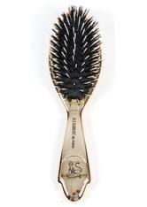 Alexandre de Paris Goldene Bürste mit Naturborsten und  Rilsanstiften 7-reihig