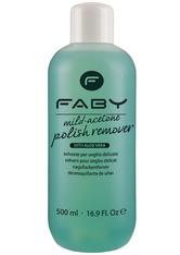 Faby Mild Acetone Polish Remover Aloe Vera 500 ml Nagellackentferner