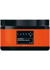 Schwarzkopf Chroma ID Bonding Color Mask 7-77 Kupfer für Kupfertöne und Auffrischungen auf mittelblonden Grundlagen, 250 ml