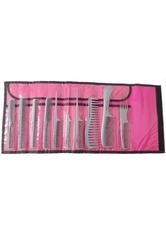 Hercules Sägemann 10er Kamm Set silber / Tasche pink