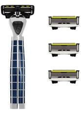 SHAVE LAB - Shave Lab Herrenrasierer Tres Starter Set Arctic Blue P.6 Griff + 4 Klingen 1 Stk. - RASIER TOOLS