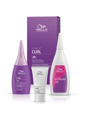 Wella Professionals Permanentes Styling Creatine+ Curl Set für eine Komplettanwendung (N) Normales bis widerspenstiges Haar: Permanente Well-Lotion 75 ml + Fixierung 100 ml + Vorbehandlung 30