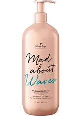 SCHWARZKOPF - Schwarzkopf Professional Haarpflege Mad About Curls & Waves Mad About Waves Windswept Conditioner 1000 ml - Conditioner & Kur