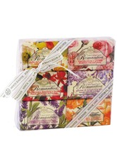 Nesti Dante Firenze Pflege Sets Soap Set 1 x Gillyflower & Fuchsia 150 g + 1 x Rose & Peony 150 g + 1 x Cherry Blossom & Basil 150 g+ 1 x Lily & Narcissus 150 g + 1 x Wisteria and Lilac 150 g