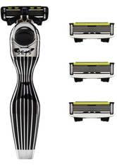 Shave Lab Herrenrasierer Seis Starter Set Black Edition P.6 Griff + 4 Klingen 1 Stk.