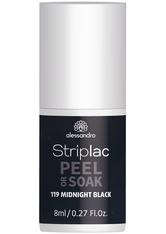 Alessandro Striplac Peel or Soak - Vegan Nagellack 8 ml Nr. 119 - Midnight Black