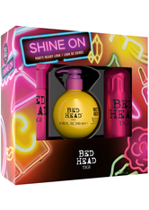 TIGI - TIGI Bed Head Styling & Finish Shine On Set After Party 100 ml + Motor Mouth 240 ml + Headrush 200 ml 1 Stk. - HAARPFLEGESETS