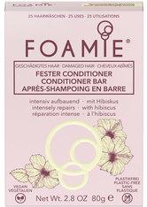 Foamie Fester Conditioner Hibiskiss (für geschädigtes Haar) 80 g