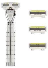 Shave Lab Damenrasierer Tres Starter Set White Edition P.L.6 Griff + 4 Klingen 1 Stk.