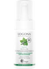 Logona Purify Mizellen Reinigungsschaum Bio-Minze & Salicylsäure aus der Weidenrinde Gesichtswasser 100.0 ml