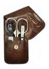Pfeilring Basic Taschenetui 0111 Dunkelbraun Maniküre-Set 1 Stk