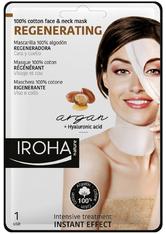 Iroha Gesichts-Vliesmasken Regenerating 100% Cotton Face &amp Neck Mask 1 Anwendungen