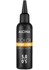 Alcina Color Gloss+Care Emulsion Haarfarbe 5.0 Hellbraun Haarfarbe 100 ml
