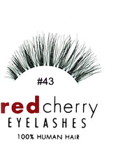 Red Cherry - Falsche Wimpern Nr. 43 Stevi - Echthaar - RED CHERRY