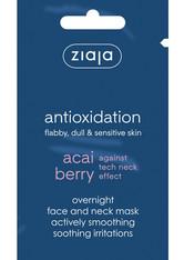 Ziaja - Gesichtsmaske - Acai Berry Overnight Face and Neck Smoothing Mask - ZIAJA