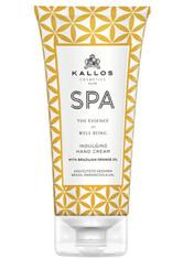 Kallos Cosmetics - Handpflege - SPA Indulging Hand Cream with Brazilian Orange Oil
