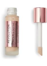 Makeup Revolution - Foundation - Conceal & Define Foundation F6