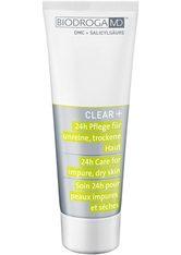 BIODROGA - BIODROGA MD CLEAR+ 24h Pflege für unreine, trockene Haut -  75 ml - TAGESPFLEGE