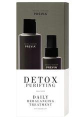 PREVIA - PREVIA Detox Purifying Daily Rebalancing Set - GEGEN HAARAUSFALL