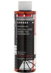 KORRES Vetiver Root / Green Tea / Cedarwood Showergel - KORRES