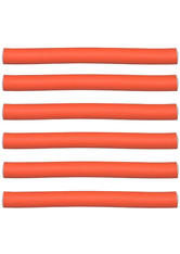 Efalock Professional Friseurbedarf Lockenwickler Flex-Wickler Länge 180 mm Durchmesser 17 mm, Orange 6 Stk.