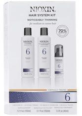 NIOXIN Hair System Kit - 6 - normales bis kräftiges, naturbelassenes oder chemisch behandeltes Haar - sichtbar abnehmende Haardichte - NIOXIN