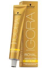 Schwarzkopf Professional Haarfarben Igora Royal Absolutes Age Blend Permanent Anti-Age Color Creme 6-580 Dunkelblond Gold Rot 60 ml