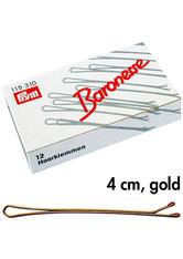 Baronesse Haarklemmen Gold 4 cm 12 Stück