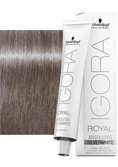 Schwarzkopf Igora Royal Absolutes Silverwhite Schiefer Grau 60 ml Haarfarbe