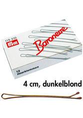 Baronesse Haarklemmen Dunkelblond 4 cm 10 Stück