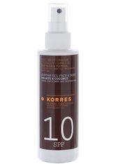 KORRES Clear Sunscreen Oil Walnut & Coconut SPF 10 - KORRES