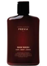 PREVIA - PREVIA MAN Wash Hair + Body + Shave -  250 ml - DUSCHEN