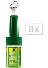 RENÉ FURTERER - René Furterer Triphasic VHT ATP Intensif Regenerierendes Serum gegen Haarausfall - Packung mit 8 x 5,5 ml - GEGEN HAARAUSFALL