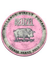 REUZEL - Reuzel Pomade Pink Heavy Hold Grease - HAARWACHS & POMADE