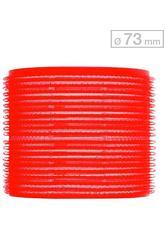 Efalock Professional Friseurbedarf Lockenwickler 51 mm - 78 mm Durchmesser Haftwickler Groß Durchmesser 73 mm, Rot 6 Stk.