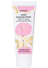 KORRES - KORRES Damask Rose Overnight Anti-Fatique Mask - MASKEN