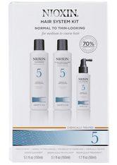 NIOXIN Hair System Kit - 5 - normales bis kräftiges, naturbelassenes oder chemisch behandeltes Haar - normale bis geringe Haardichte - NIOXIN