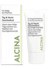 Alcina Kosmetik Fettige Haut bis Mischhaut Tag- und Nacht Gesichtsfluid 50 ml