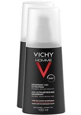 Vichy Produkte VICHY HOMME Deodorant  Zerstäuber 24h ultra frisch - Doppelpack (Nur solange der Vorrat reicht!) Körpercreme 200.0 ml