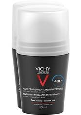 Vichy Produkte VICHY HOMME Deo Roll-on Anti-Transpirant 48h extra sensitiv - Doppelpack (Nur solange der Vorrat reicht!) Körpercreme 100.0 ml