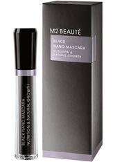 m2 Beauté - Black Nano Mascara Nutrition & Natural Growth - Mascara - 6 Ml - Black