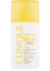 CLINIQUE - Clinique Sonnen und Körperpflege Sonnenpflege Mineral Sunscreen Fluid for Face SPF 30 30 ml - SONNENCREME